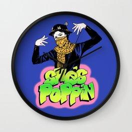She's Poppin Wall Clock