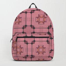 Light Red Geometrical Pattern Backpack