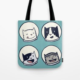 CatStronauts Team Heads Tote Bag