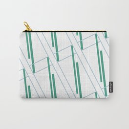 Geometric work - blue and green lines Carry-All Pouch