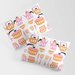 My Midcentury Modern Kitchen In Pink And Tangerine Pillow Sham