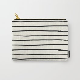 Horizontal Ivory Stripes II Carry-All Pouch
