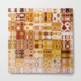 Amber Gypsy Mosaic | Retro Abstract | Nadia Bonello | Canada Metal Print