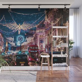 London Christmas Lights (Color) Wall Mural