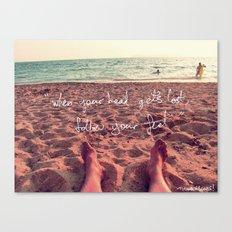 follow your feet Canvas Print