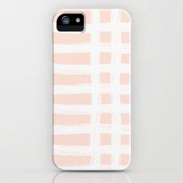Blush Gross Stripes No.1 iPhone Case