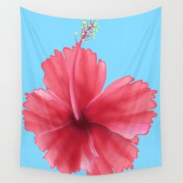 Puerto Rican Hibiscus flower print Wall Tapestry