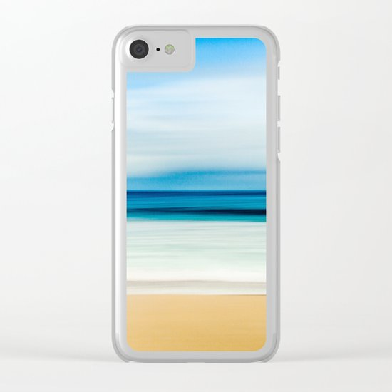 Pastel Ocean mood Clear iPhone Case