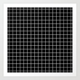 Black and White Grid Kunstdrucke