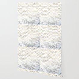 Gold Geometric Marble Deco Design Wallpaper