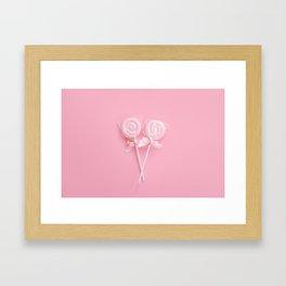 Pink Lollipops Framed Art Print