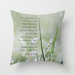 Teresa of Avila Quote Throw Pillow