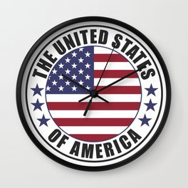 The United States of America - USA Wall Clock