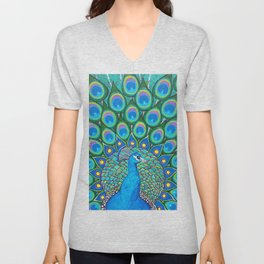 Showing My Colors - Peacock Unisex V-Neck