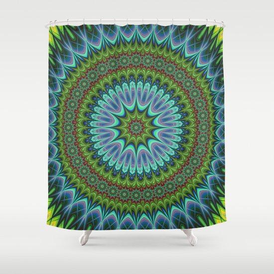 Mandala Shower Curtain By David Zydd
