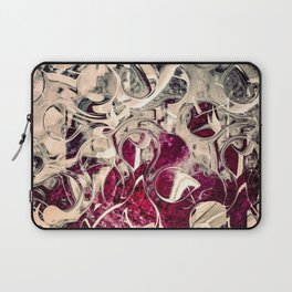 Dark Magenta Vintage Distressed Abstract Laptop Sleeve