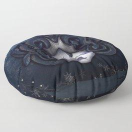 Medusa Gorgon Winter 19 Floor Pillow