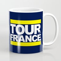 tour de france Mugs featuring Tour de France by Pedlin