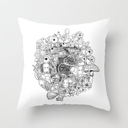 The princess and the Frog (3D papercut) Throw Pillow