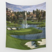 golf Wall Tapestries featuring GOLF COURSE by aztosaha