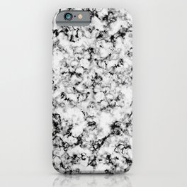 Black and White Veined Faux Marble Repeat iPhone Case