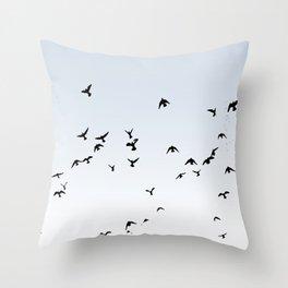 Soaring Birds Throw Pillow