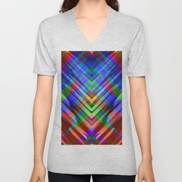 Colorful digital art splashing G531 Unisex V-Neck