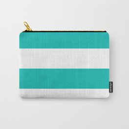 Wide stripes /  tiffany blue Carry-All Pouch