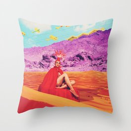 they found the lost lady in red, oracle of the sands Throw Pillow