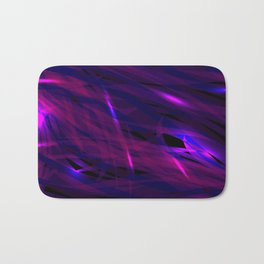 Rich purple and smooth sparkling lines of blueberry ribbons on the theme of space and abstraction. Bath Mat