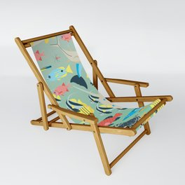 Underwater World with Coral Reef Animals Sling Chair
