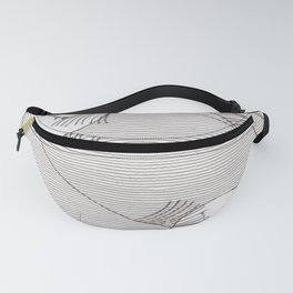 Two Moons Stencil,19th century Japan Fanny Pack