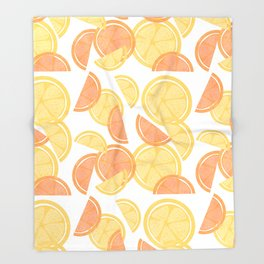 14 Citrus Showers Throw Blanket