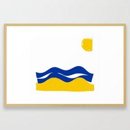 Sun Sea Sand Framed Art Print