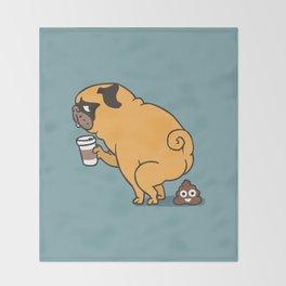 Coffee makes me poop Throw Blanket