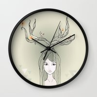 witch Wall Clocks featuring witch by Catpurrrs