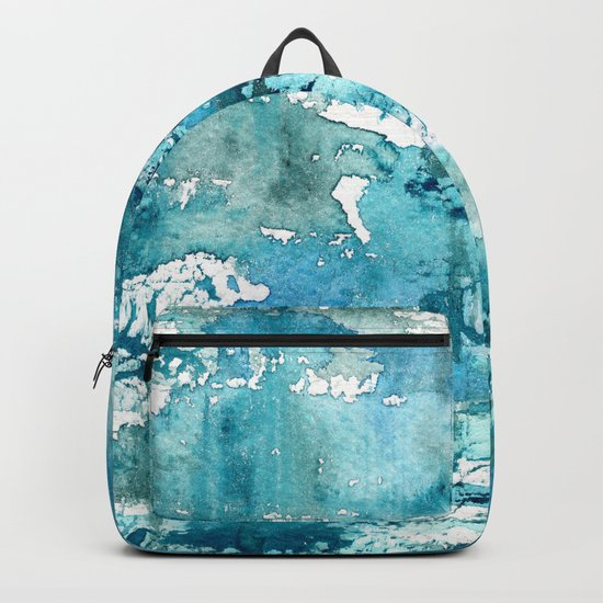 Turquoise blue passion || watercolor Backpack