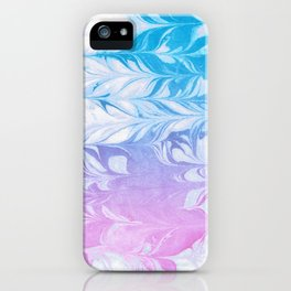 Nanaha - spilled ink abstract painting watercolor water marble marbled cell phone case japanese iPhone Case