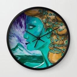 Teal - painting series Wall Clock