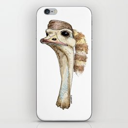 Ostrich in a Coonskin Hat iPhone Skin