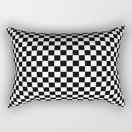 op art - black and white checks bulge Rectangular Pillow