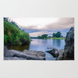 Long Exposure Photo of The River Tay in Perth Scotland Rug