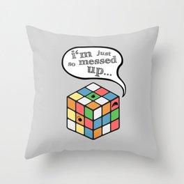 Muddled Throw Pillow
