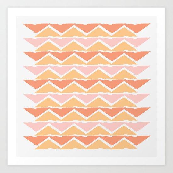 triangle sunset Art Print
