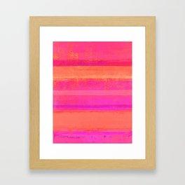 Popping Framed Art Print