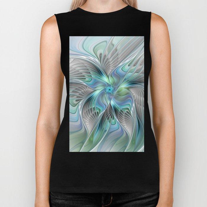 Abstract Butterfly, Fantasy Fractal Art Biker Tank