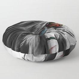 Miyazaki's Mononoke Hime Digital Painting the Wolf Princess Warrior Color Variation Floor Pillow