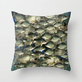Crappie Camo Throw Pillow