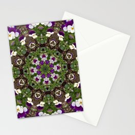 pansies mandal Stationery Cards