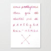 allison argent Canvas Prints featuring Allison Argent by salem